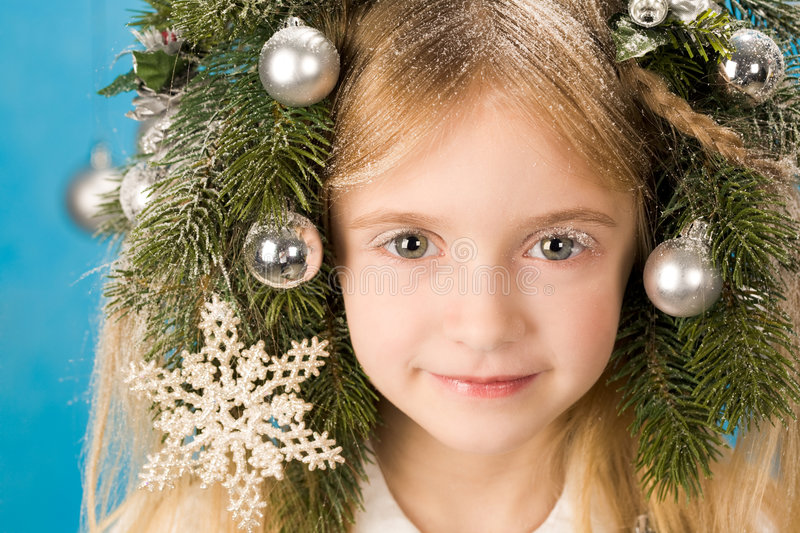Download Fairy girl stock image. Image of face, christmas, little - 7391745