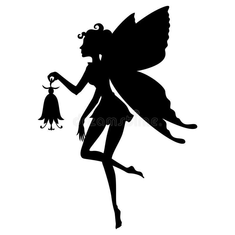 Fairy Girl Silhouette royalty-vrije illustratie