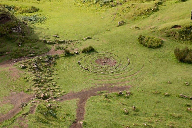 Fairy Glen, Insel Skye lizenzfreie stockbilder