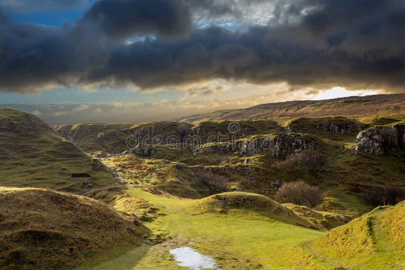 Fairy Glen at Isle of Skye stock photo