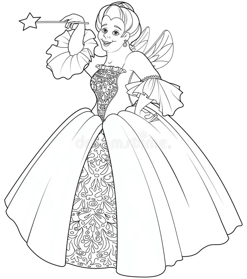 how to draw a fairy godmother