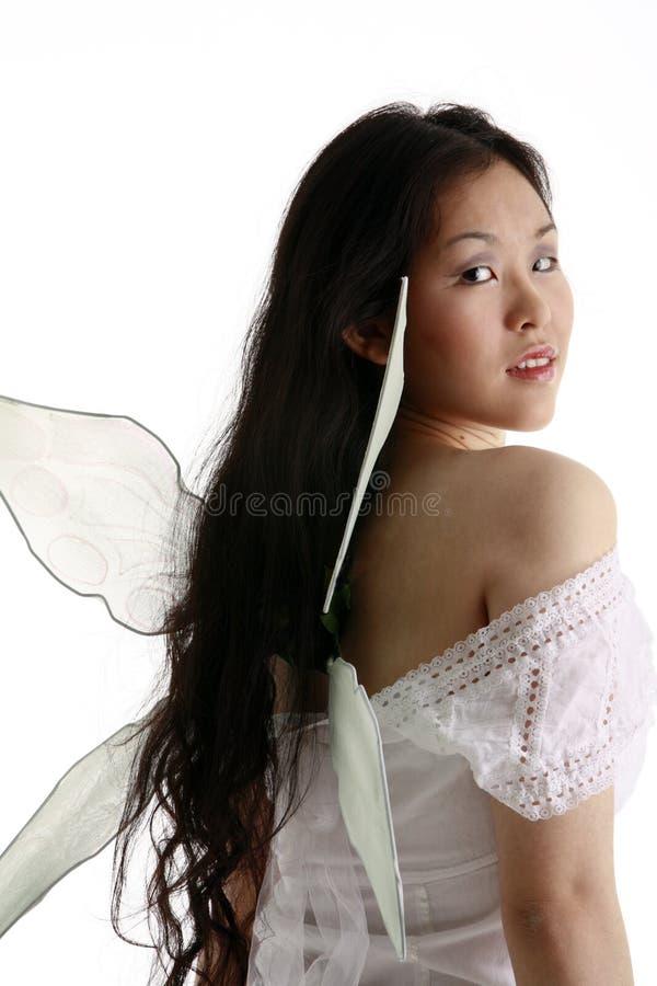 Fairy grazioso che guarda indietro immagine stock libera da diritti