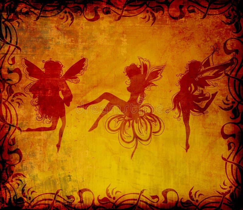 Fairy grunge stock illustration