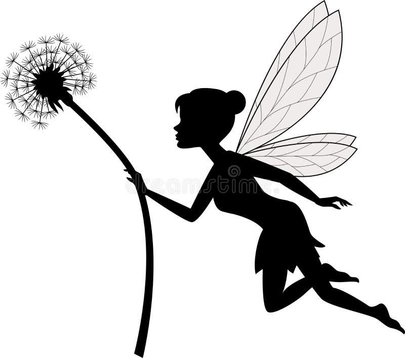 Fairy holding flower stock illustration