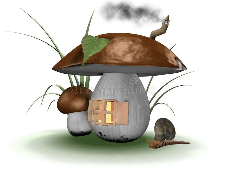 Download Fairy house stock illustration. Image of grow, roof, light - 3691357