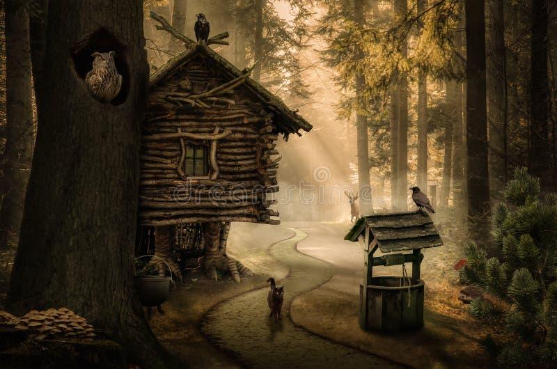 Fairy house vector illustration
