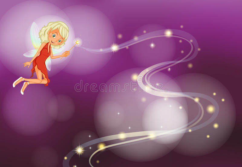Fairy. Illustration of a fairy with background vector illustration