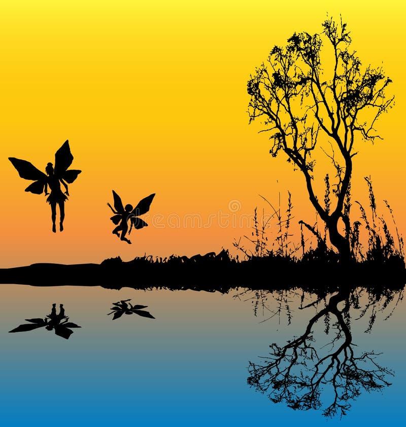 Download Fairy Lake Background stock vector. Illustration of letterhead - 8572403