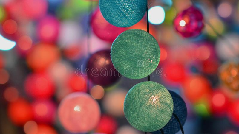 Fairy lights stock photography