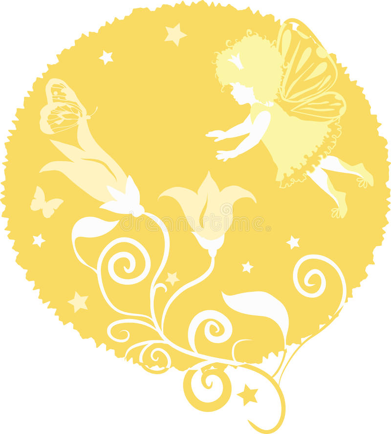 Fairy Little Girl Silhouette