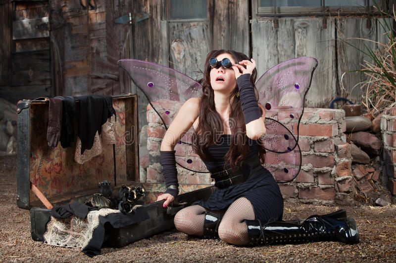 Download Fairy With Loupe Glasses stock image. Image of dress - 22215559
