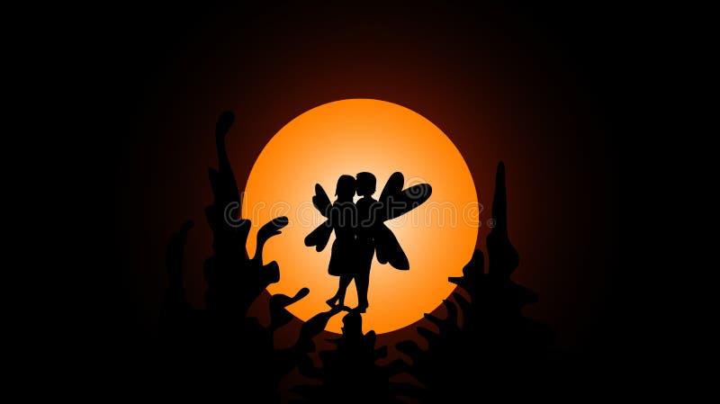 Fairy love stock illustration