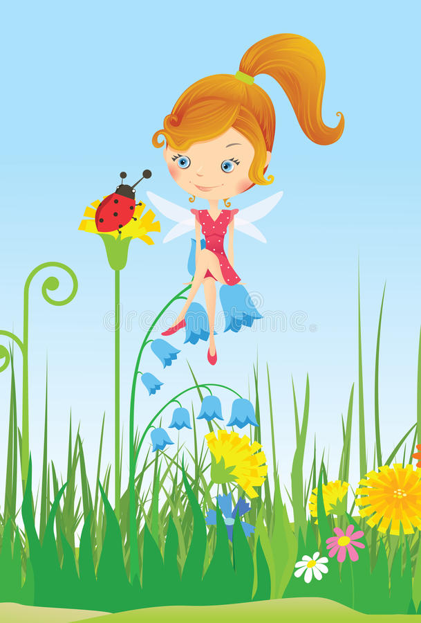 Fairy On Meadow Stock Images