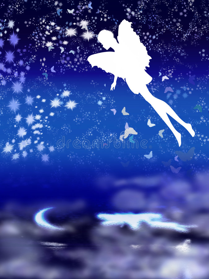 Download Fairy, night-flying stock illustration. Image of graphic - 8481276