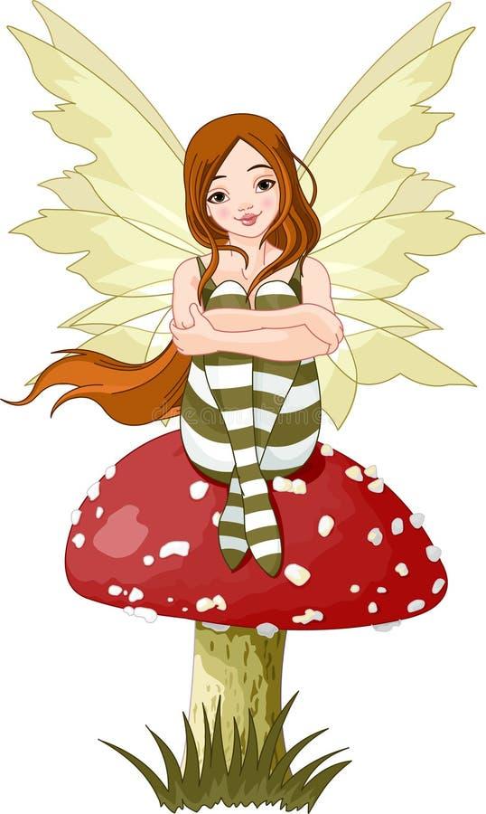 Fairy novo da floresta ilustração do vetor
