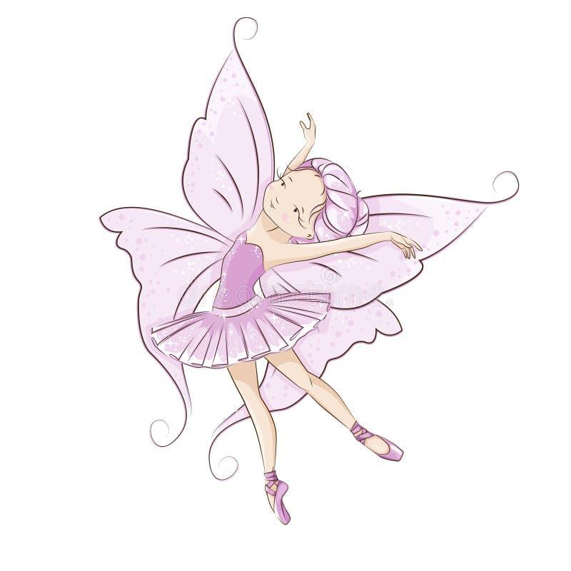 Fairy pequeno bonito ilustração do vetor
