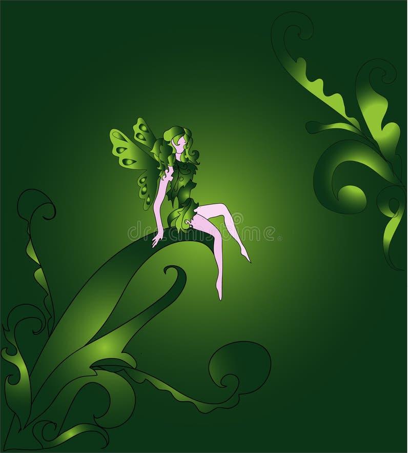Fairy pequeno nas madeiras ilustração stock