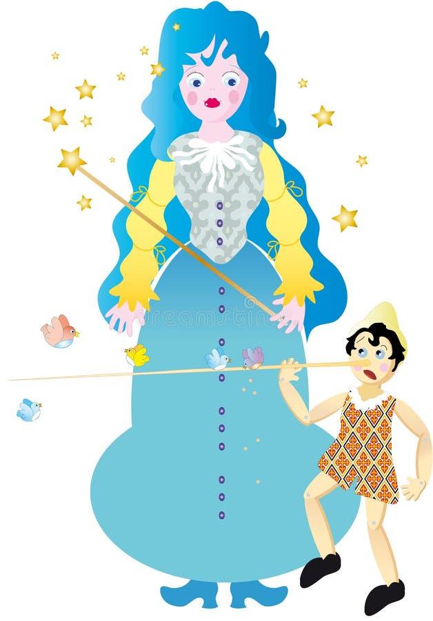 Fairy of Pinocchio stock photos