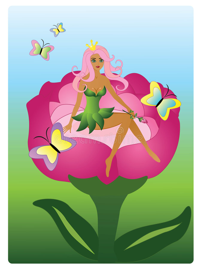 fairy princess иллюстрация штока