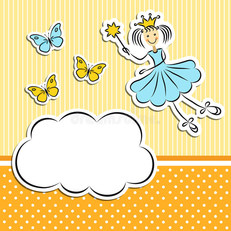 Download Fairy Princess With Butterflies Stock Vector - Image: 31778120