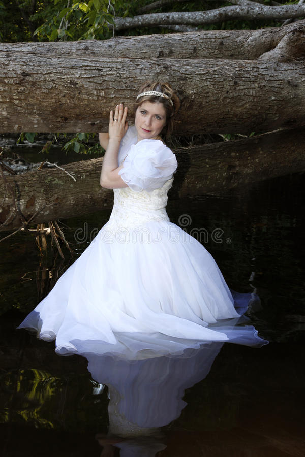 Download Fairy princess in water stock photo. Image of wedding - 19516208