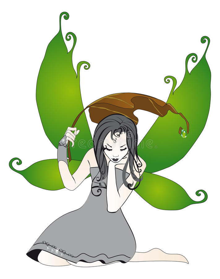 Download Fairy in the rain isolated stock vector. Image of child - 25469769