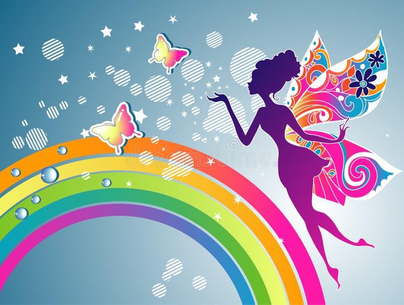 Fairy rainbow stock illustration