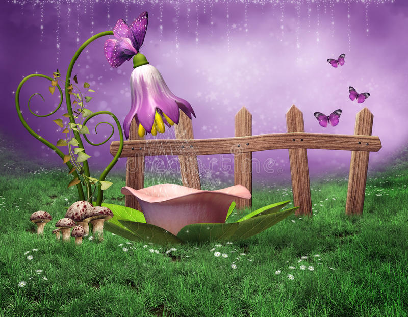 Fairy shower stock illustration