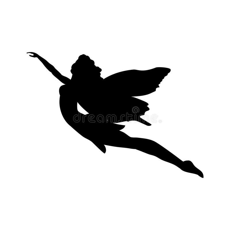 Fairy silhouette fairytale fantasy magical. Vector illustration royalty free illustration