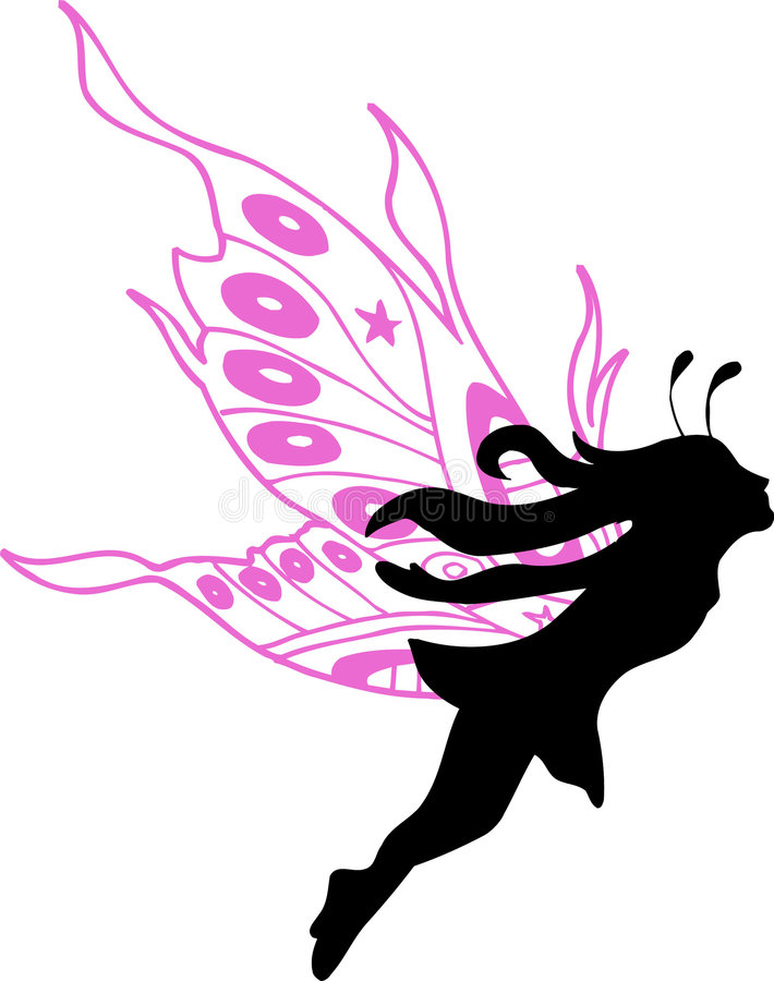 Download Fairy Silhouette Illustration Stock Vector - Image: 2375253