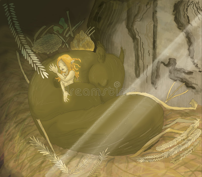 Fairy Sonolento Imagens de Stock Royalty Free