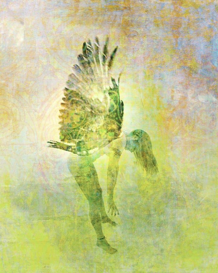 Fairy Spirit. Winged spirit being. Photo based illustration royalty free illustration