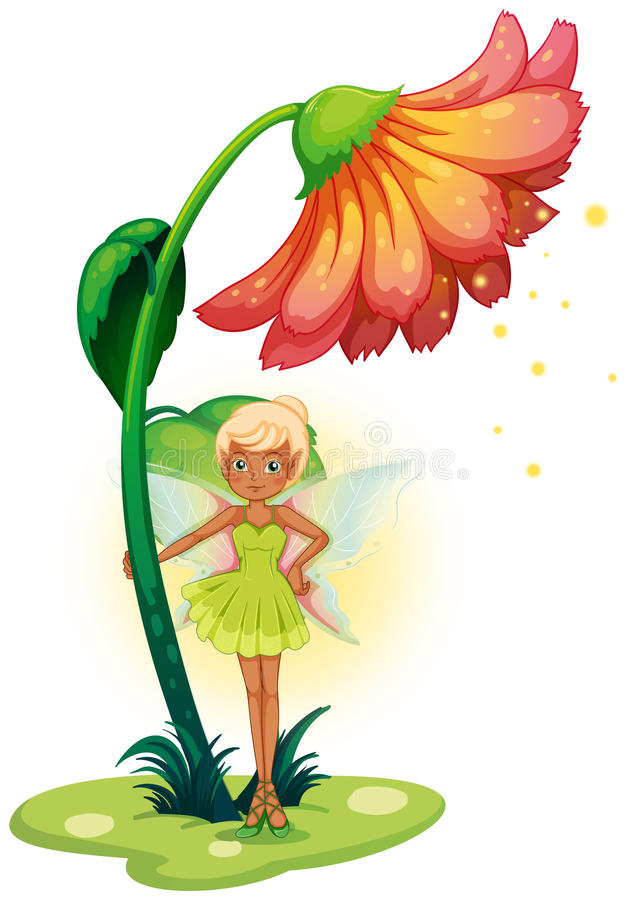 Download A Fairy Standing Below The Flower Royalty Free Stock Photo - Image: 32330665