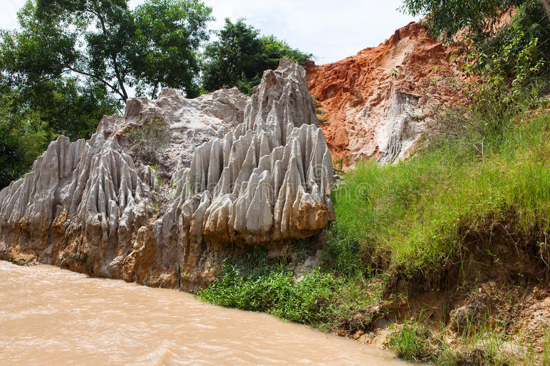 Fairy Stream Canyon. Mui Ne. Vietnam royalty free stock images