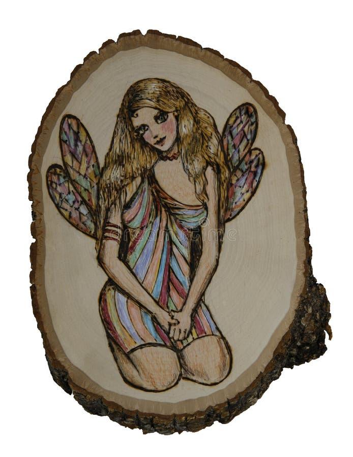 Fairy su legno illustrazione di stock