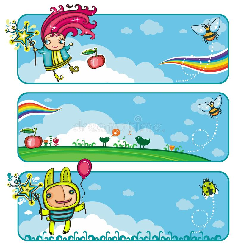 Free Fairy Sunny Bunners For Kids Royalty Free Stock Photos - 10398538