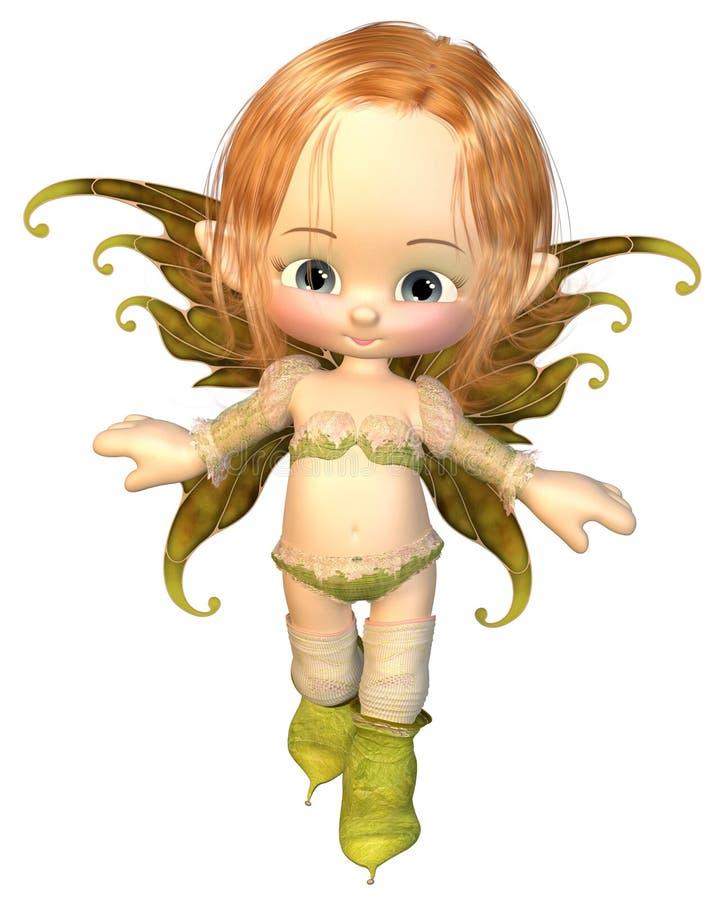 Fairy sveglio dei capelli castani dorati di Toon royalty illustrazione gratis