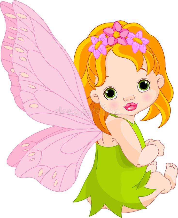 Fairy sveglio del bambino illustrazione di stock