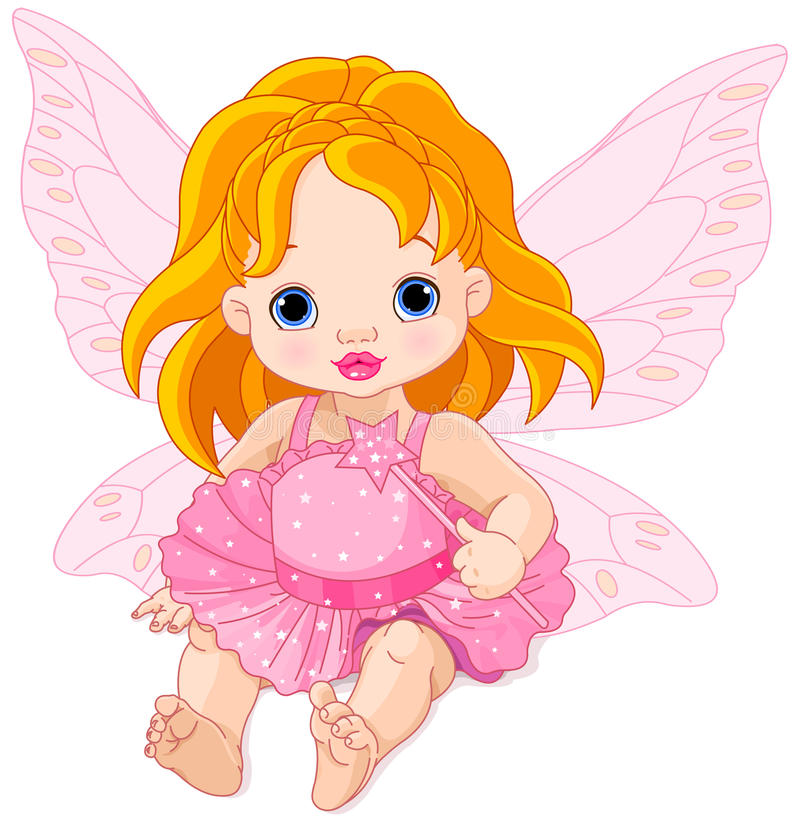 Fairy sveglio del bambino illustrazione vettoriale