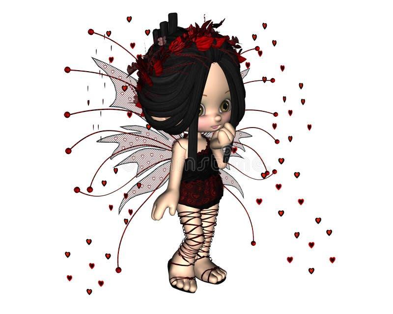 Fairy sveglio del biglietto di S. Valentino di Toon - 1 illustrazione di stock