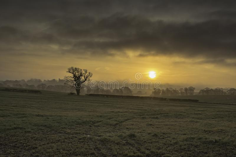 Fairy tail landscape of England. stock image