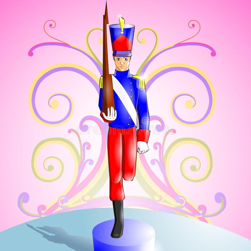 Fairy tale 11. Illustration for tale The Constant Tin Soldier royalty free illustration