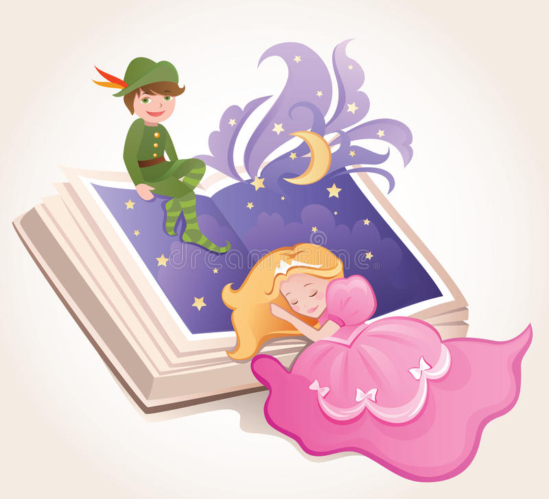 Download Fairy tale stock vector. Image of dress, pink, girl, princess - 13374476
