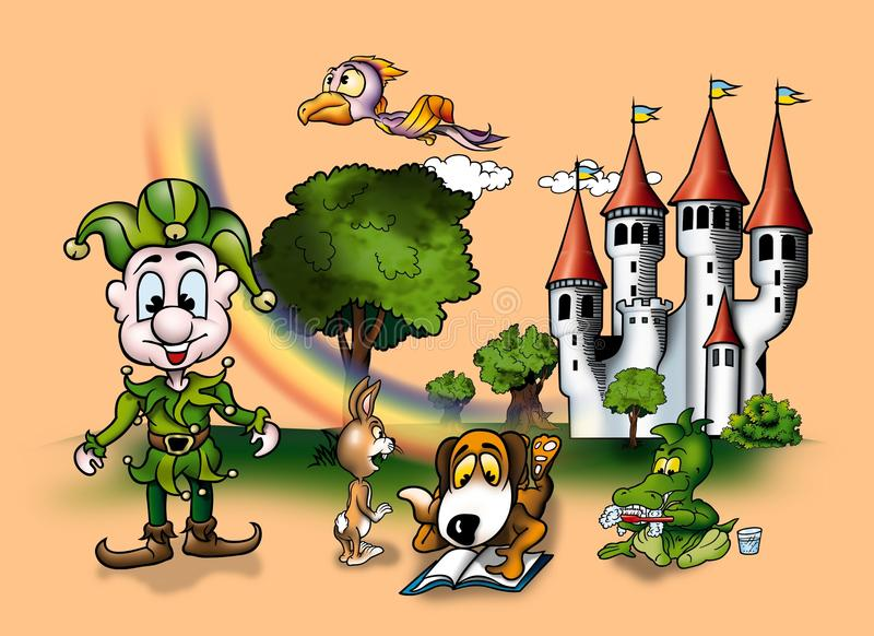 Download Fairy Tale stock illustration. Illustration of background - 20039048