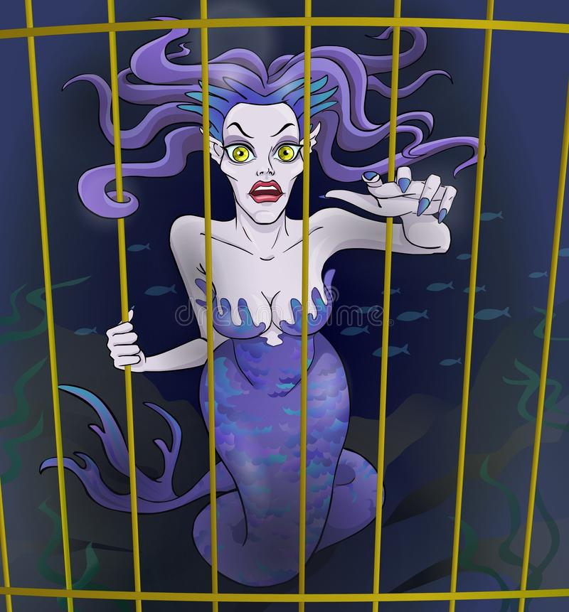 Fairy tale 3. Evil witch. royalty free illustration