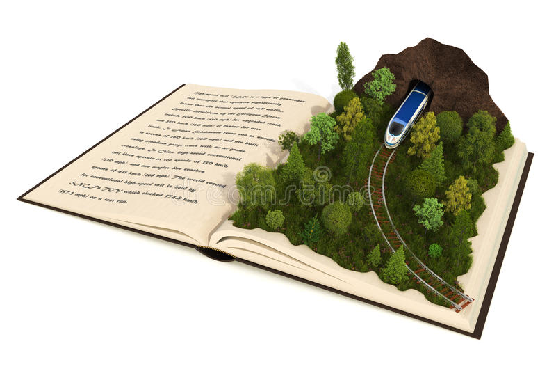 Fairy-tale book vector illustration