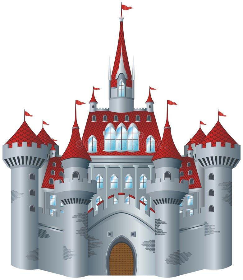 Fairy-tale castle vector illustration