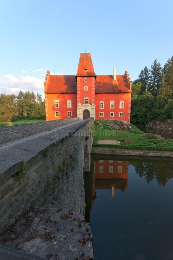 Fairy tale castle Cervena lhota stock photos