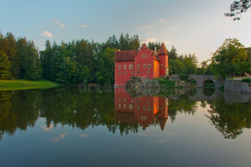 Fairy tale castle Cervena lhota royalty free stock photos