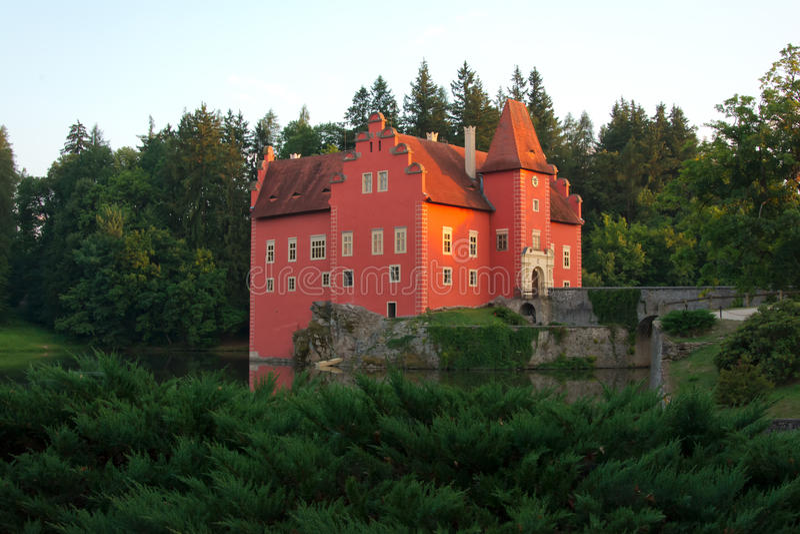 Fairy tale castle Cervena lhota royalty free stock photography